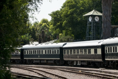 Abfahrt mit Rovos Rail