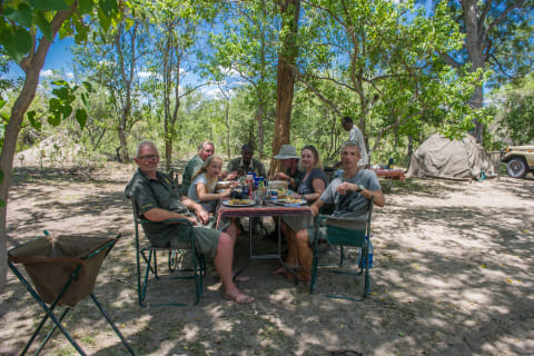 Mobiles Zeltcamp im Moremi Nationalpark