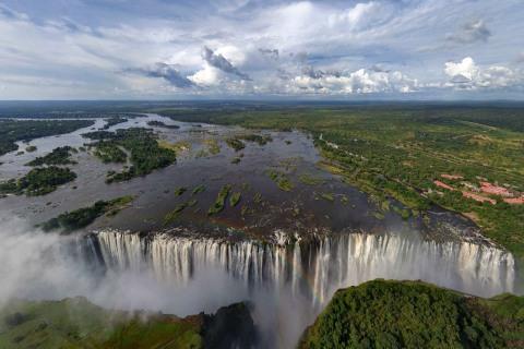 Victoria Falls aus der Hubschrauber Perspektive
