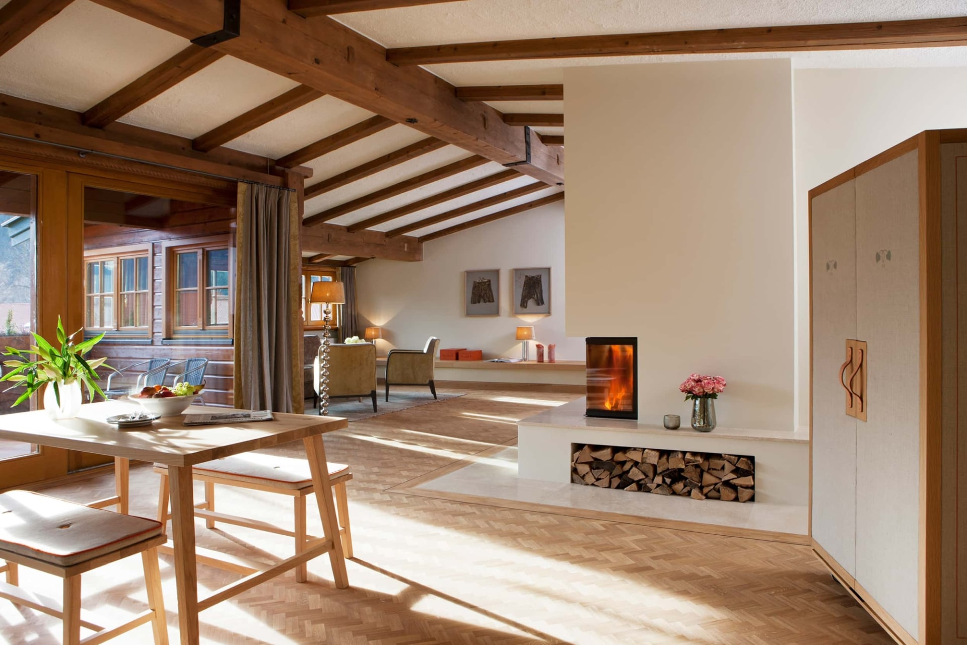 Wohnbereich des Bachmair Weissach Suite