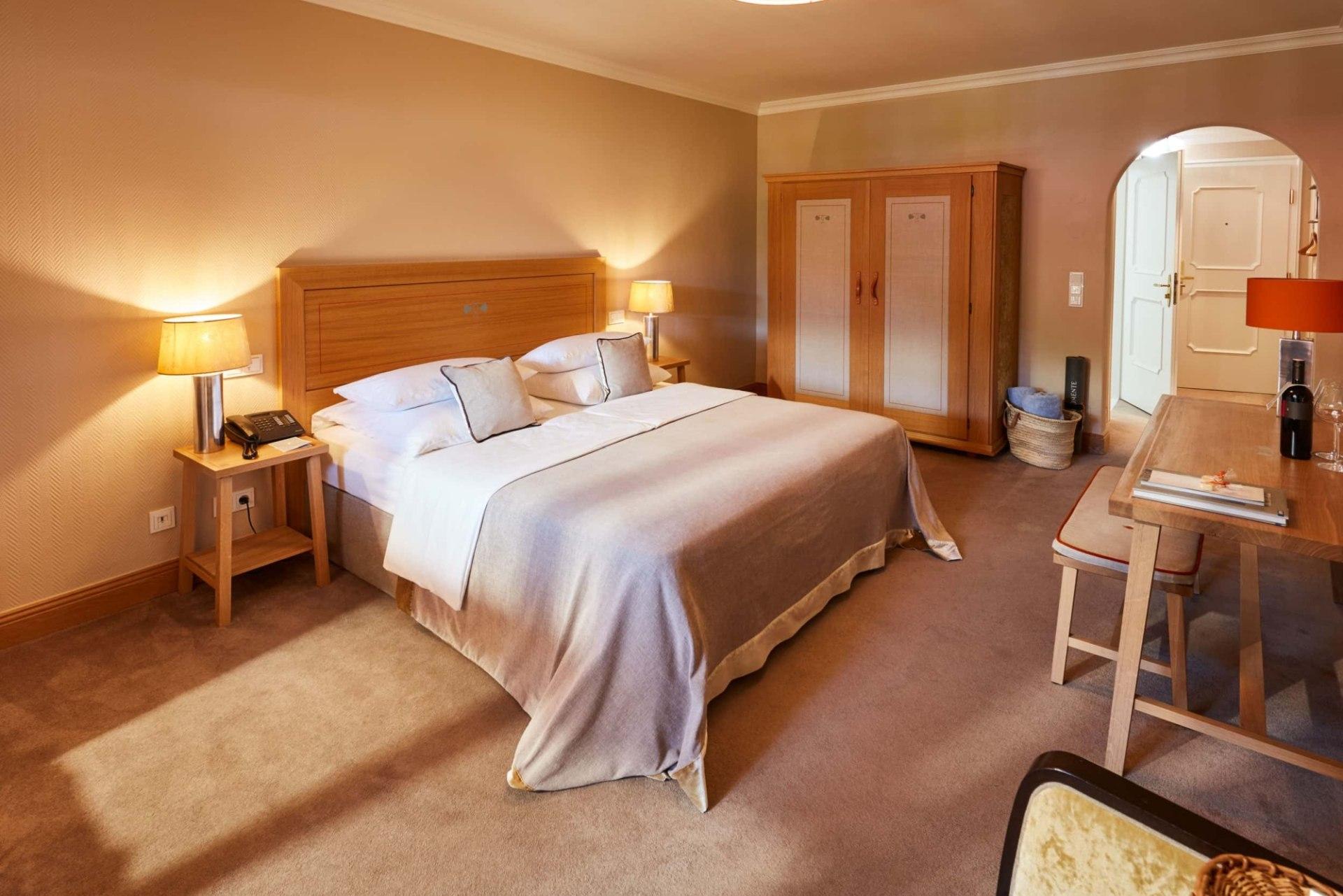 Schlafbereich des Doppelzimmers