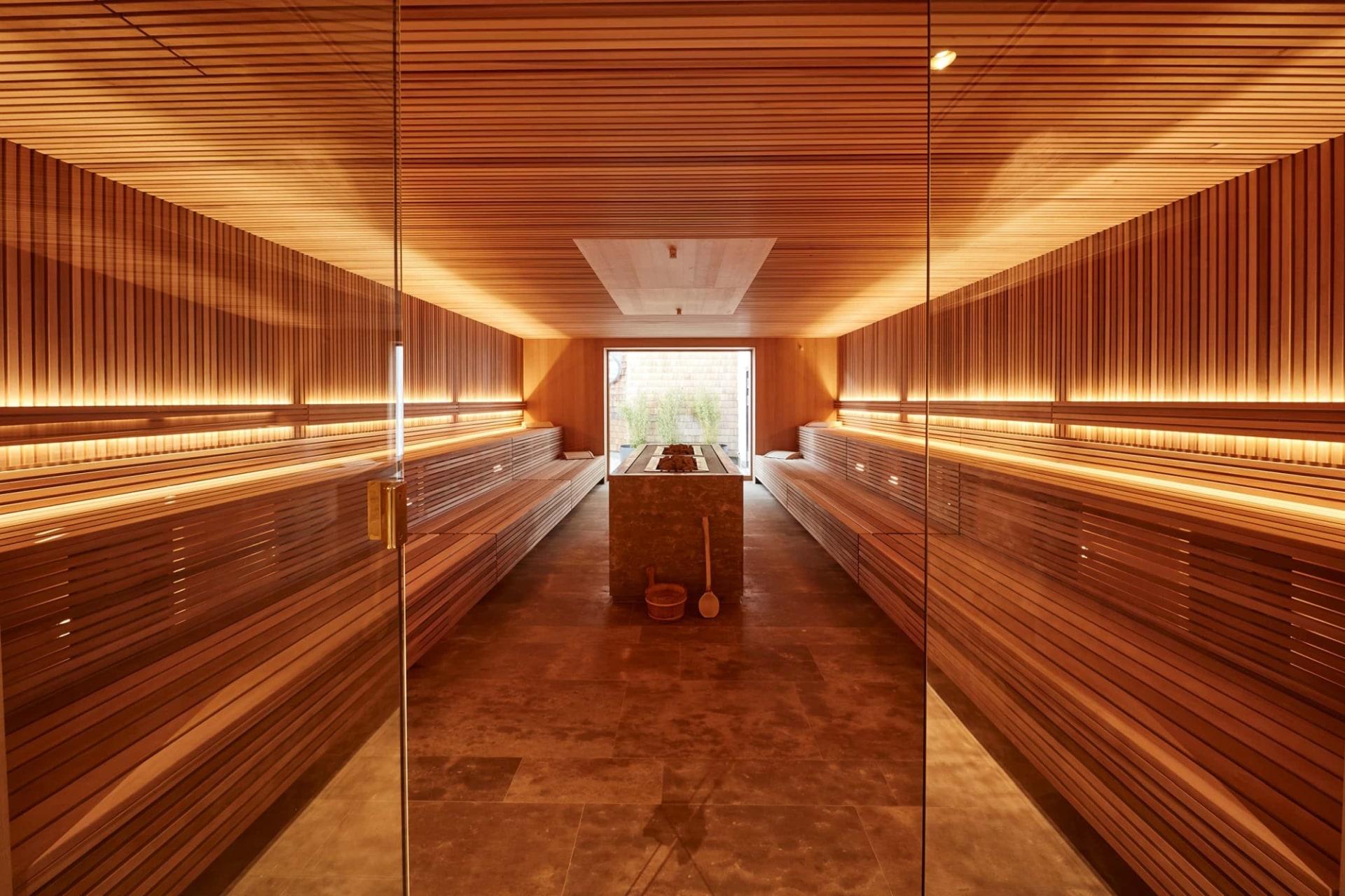 Sauna im Spa