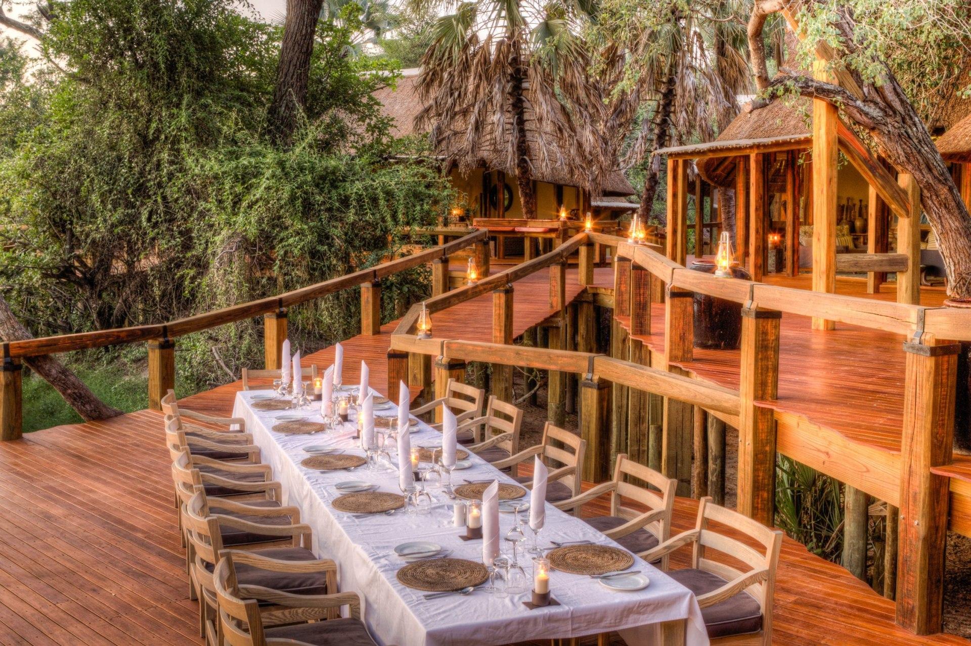 Essbereich des Camp Okavango
