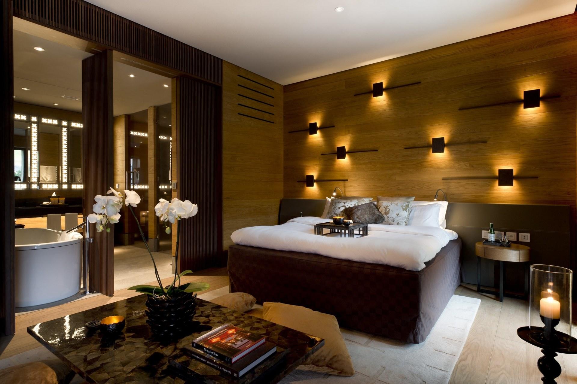 Deluxe Zimmer des Chedi Andermatt