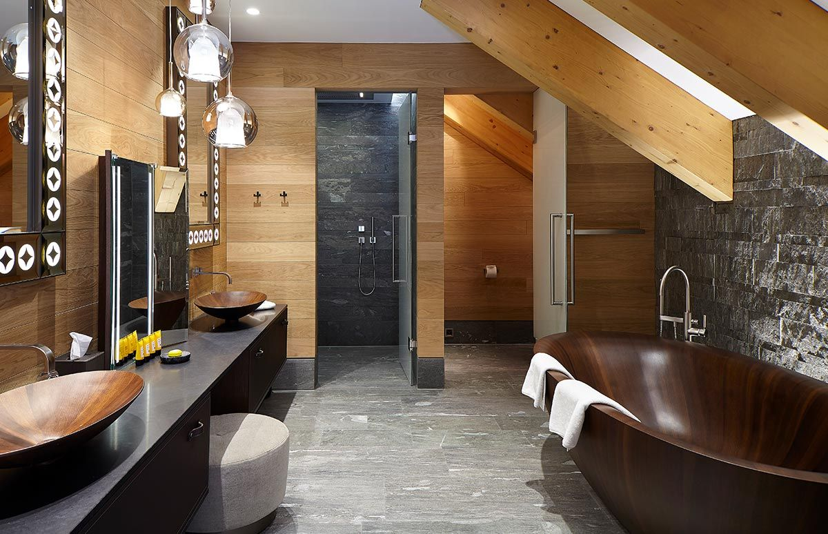 Badezimmer Ansicht des Chedi Andermatt