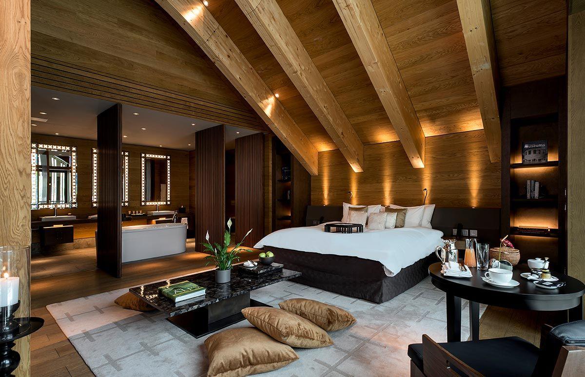 Schlafzimmer des Chedi Andermatt