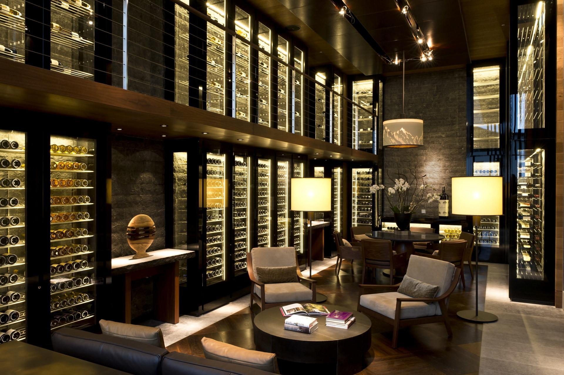 The Wine Library des Chedi Andermatt
