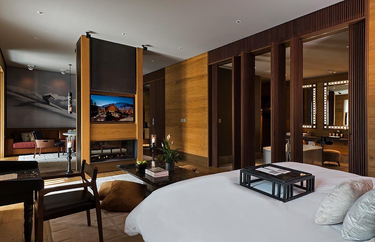 Schlafzimmer Ansicht des Chedi Andermatt