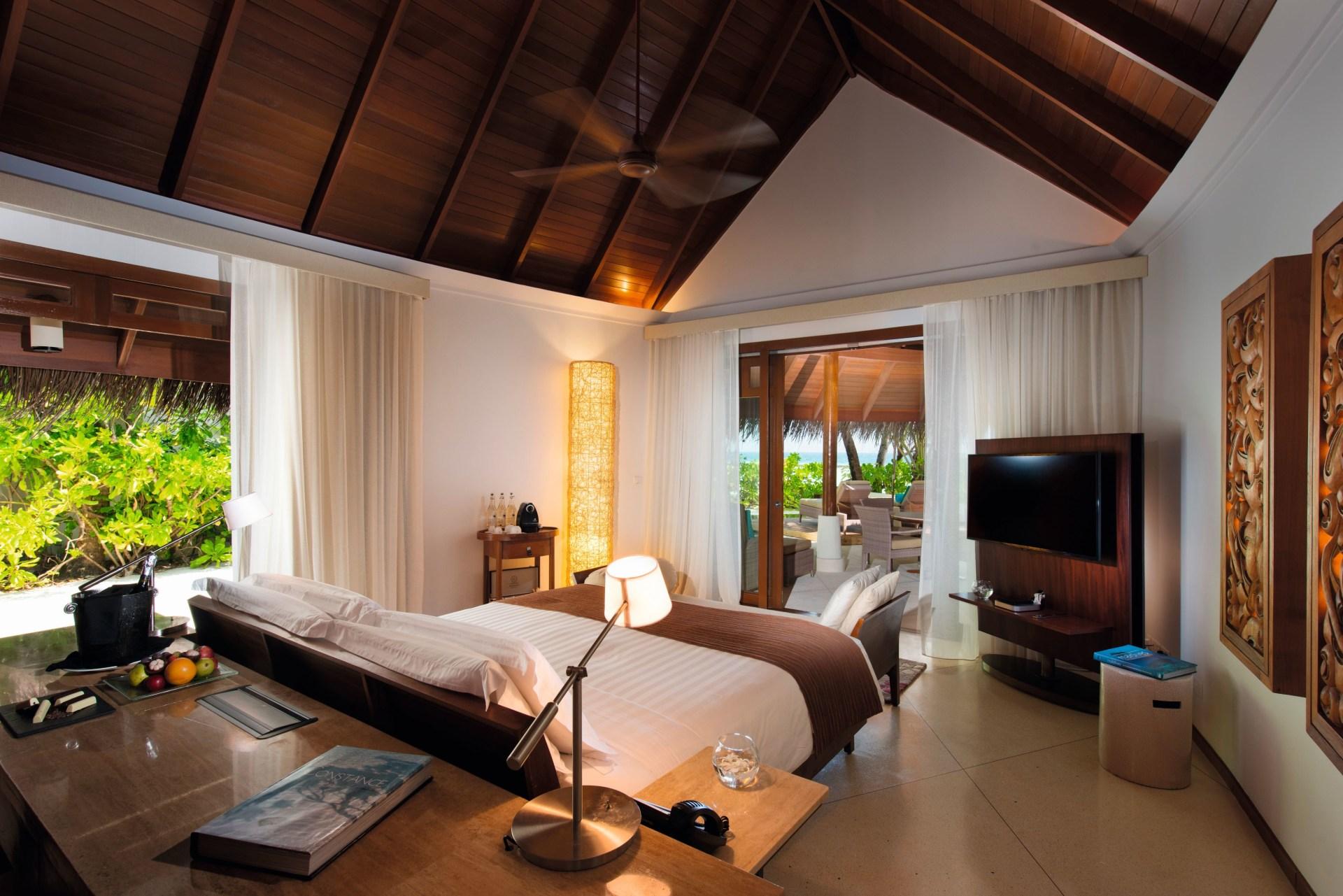 Schlafzimmer einer Familien Villa