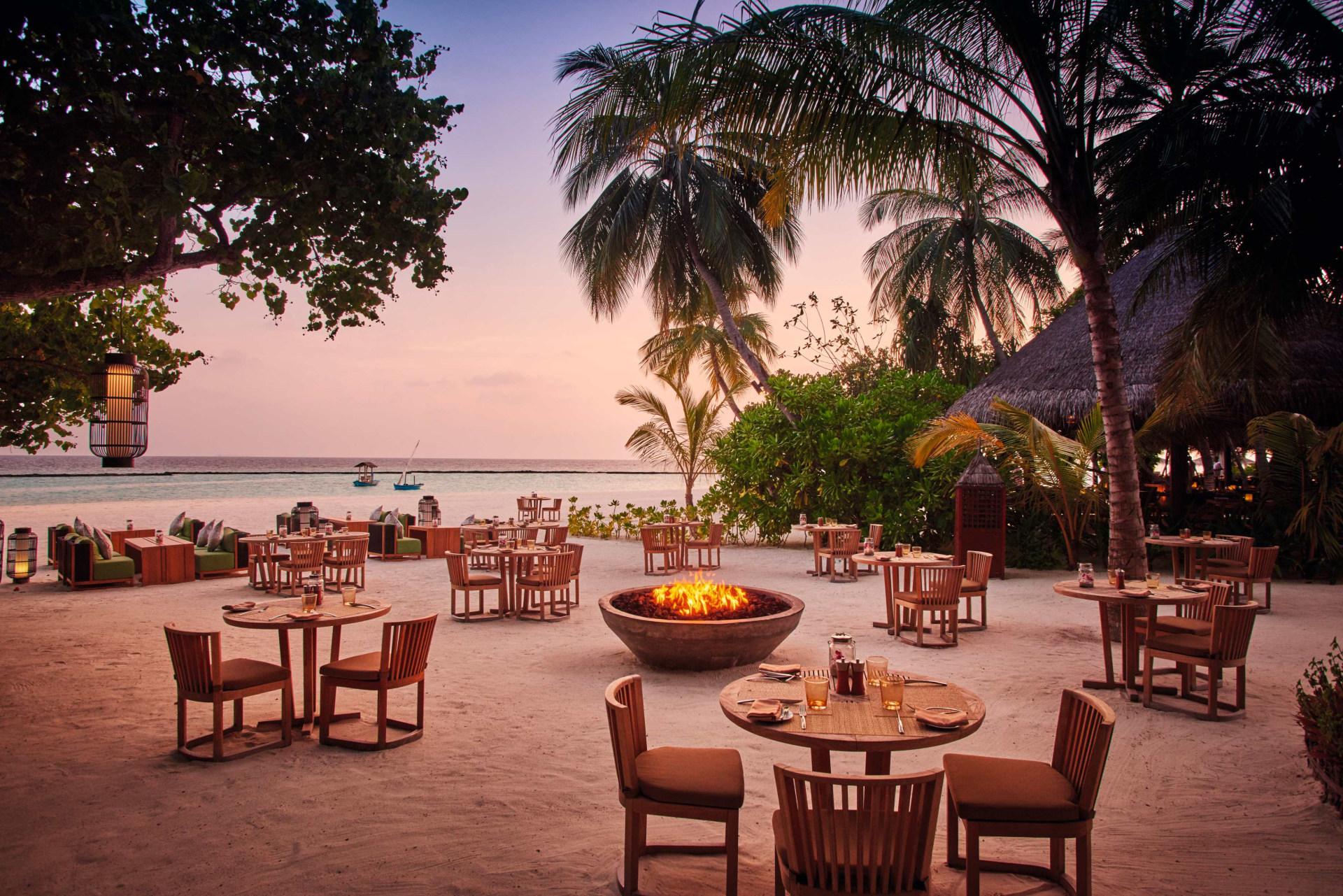 Meeru Restaurant am Strand