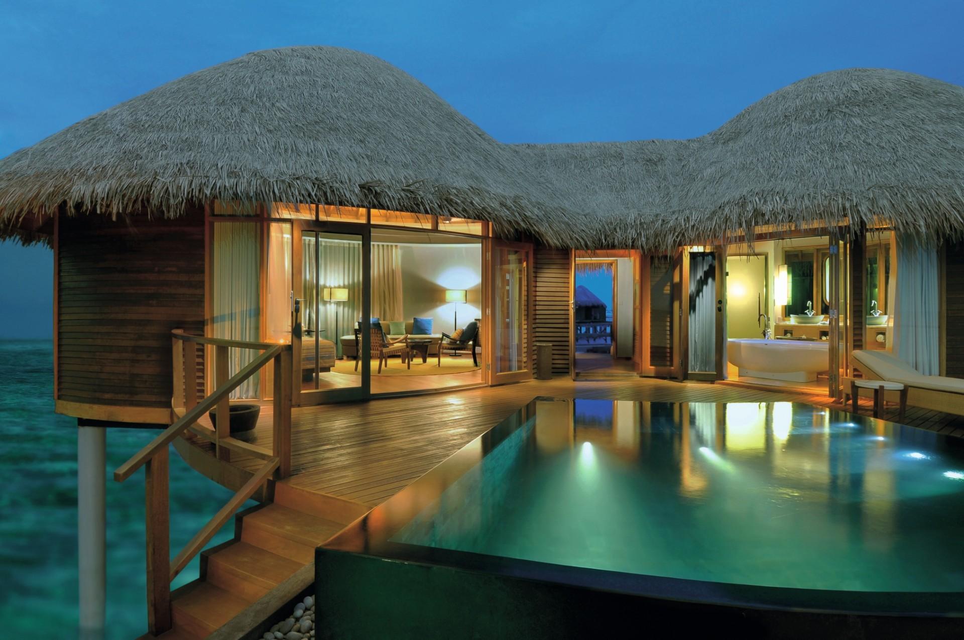 Wasser Villa von Außen