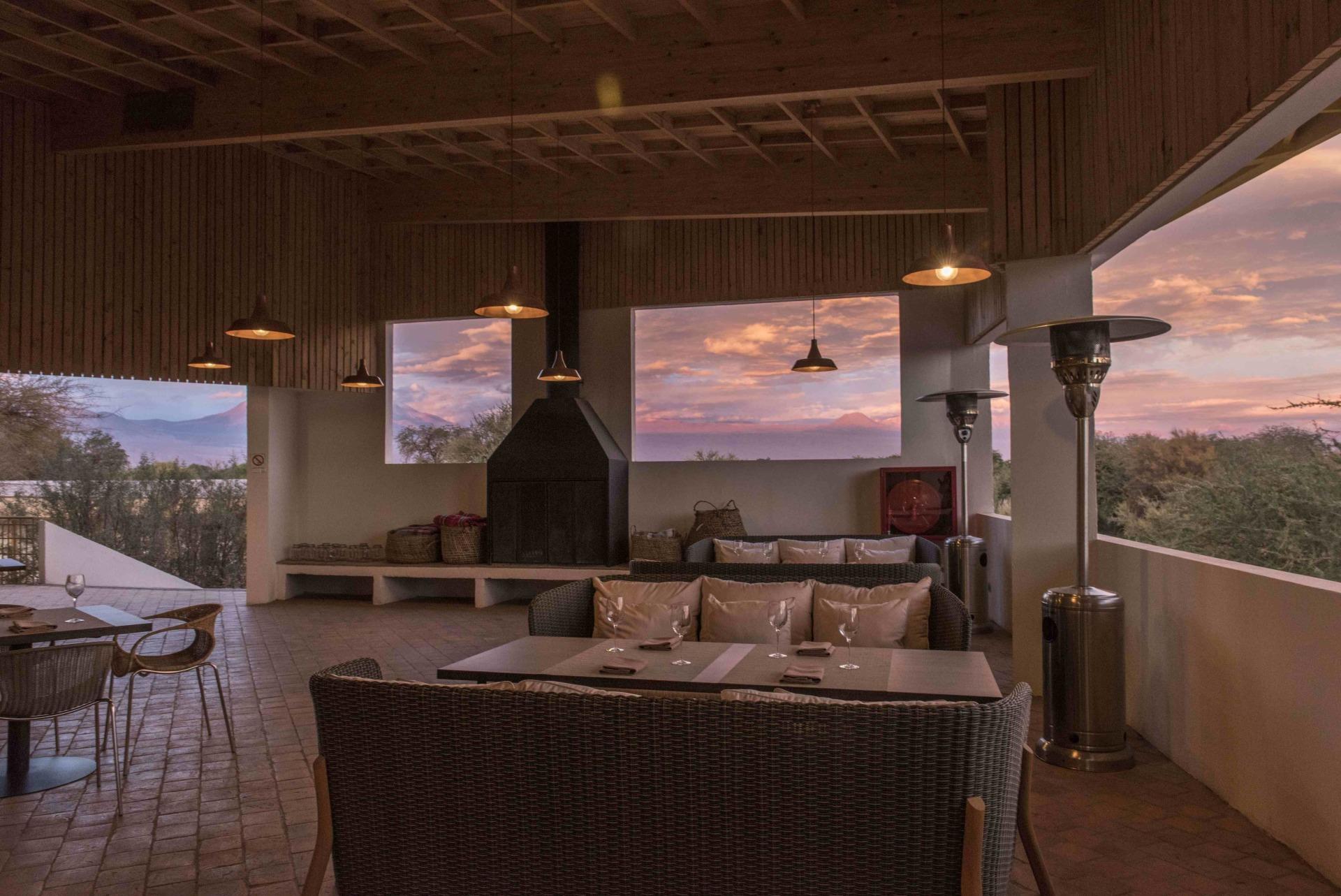 Innenbereich des Restaurants des Explora Atacama