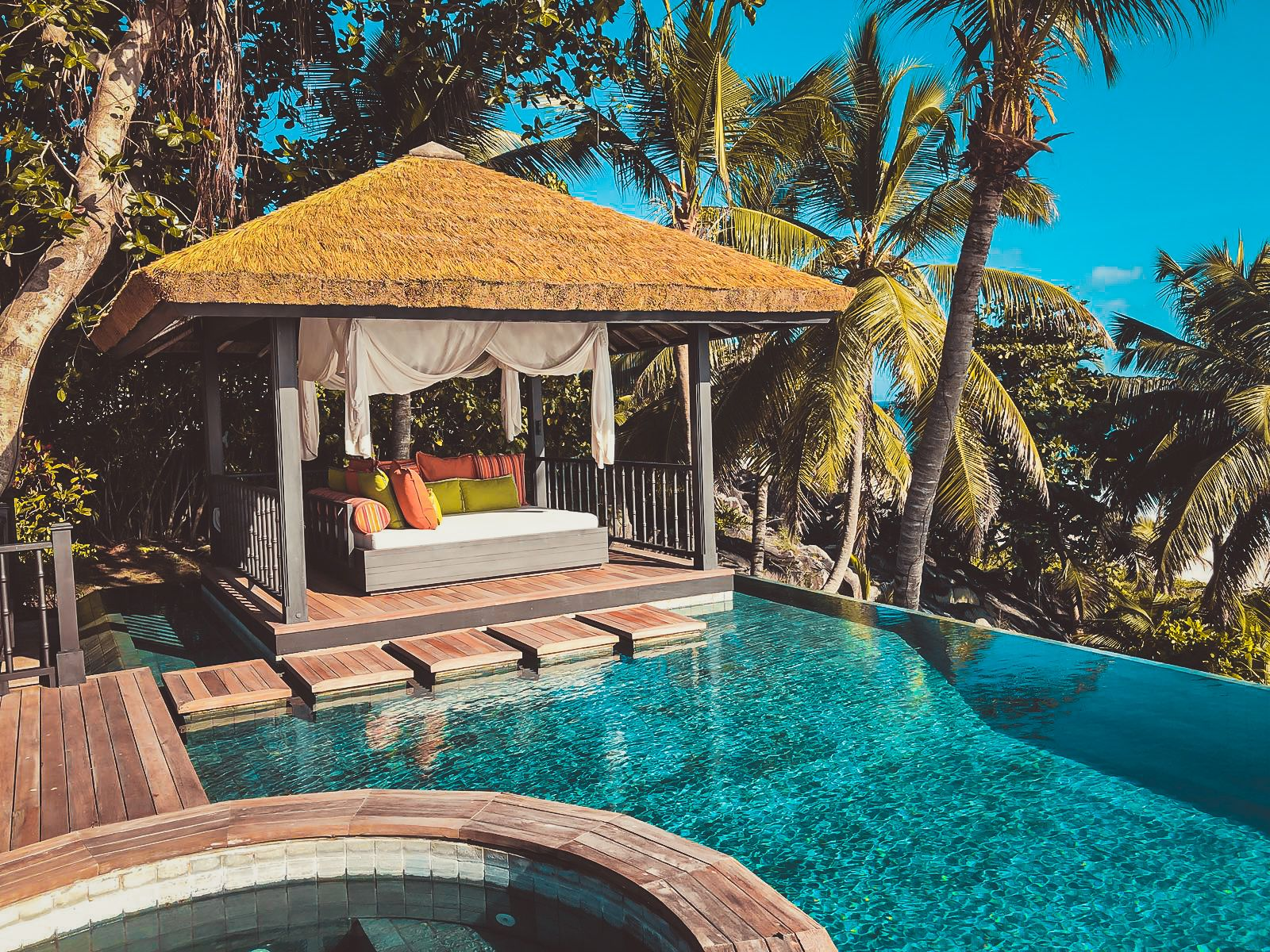 Privater Pool der Pool Twin Villa
