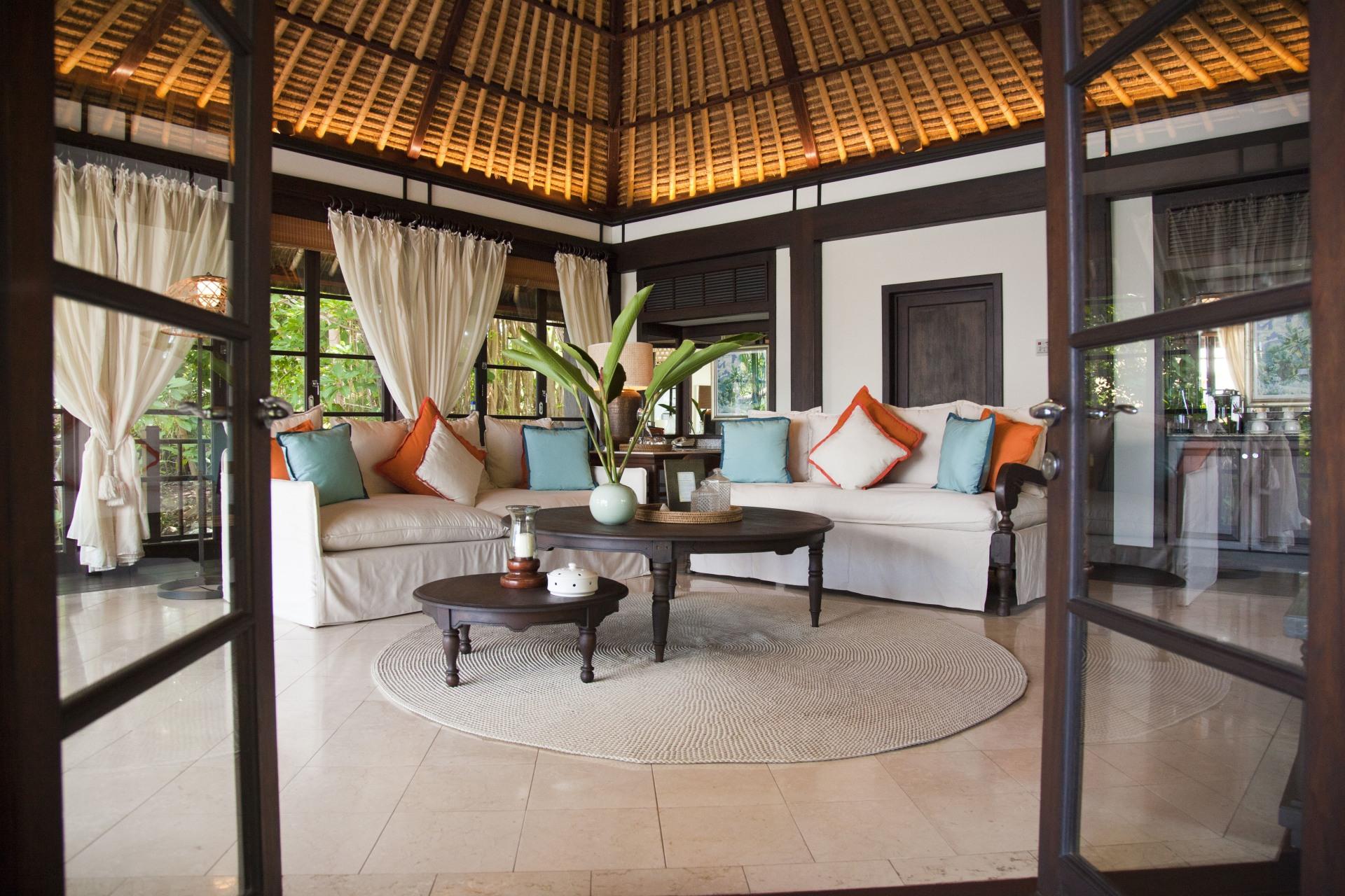 Wohnbereich der Pool Twin Villa