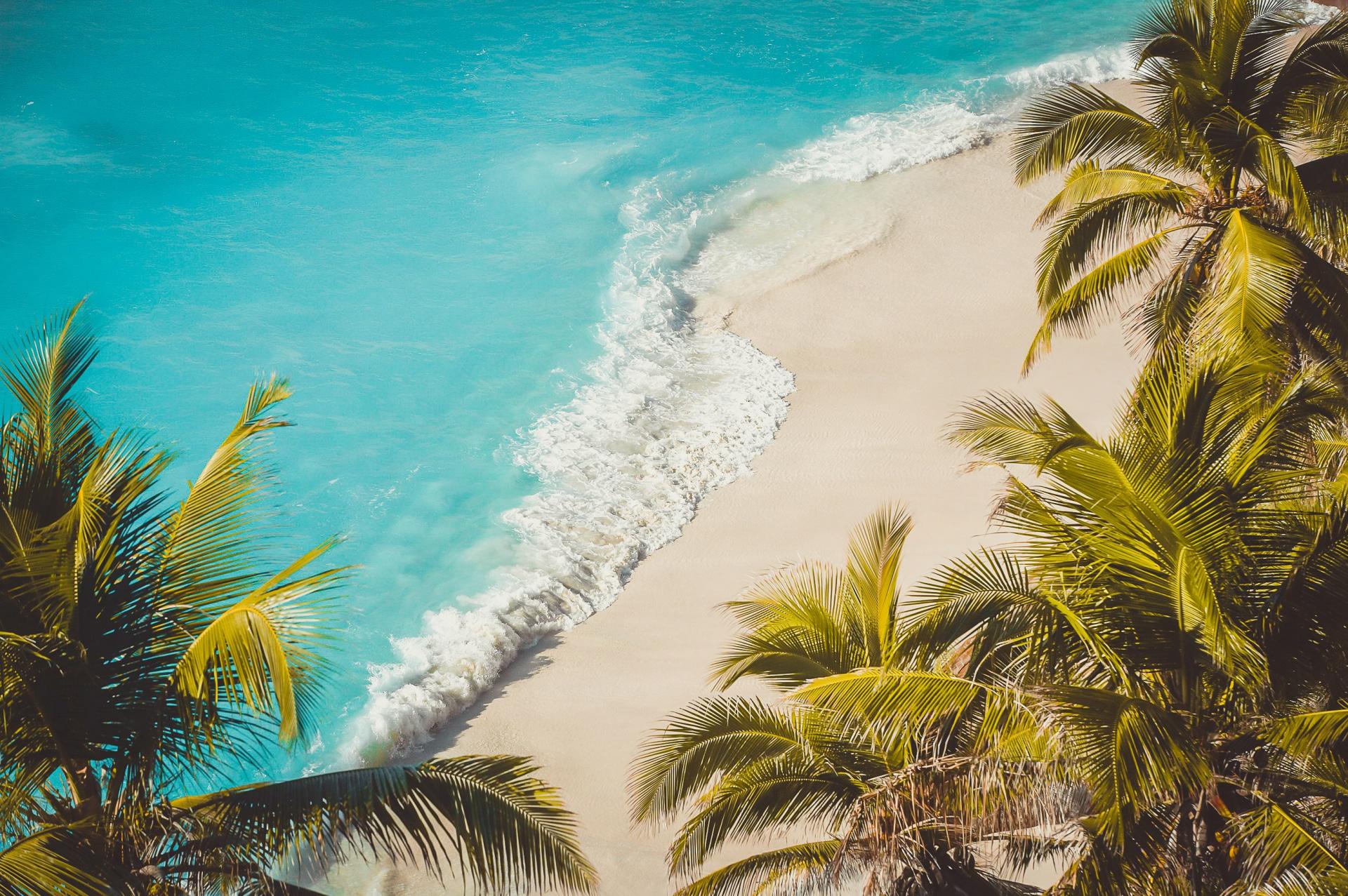 Luftaufnahme des Strands