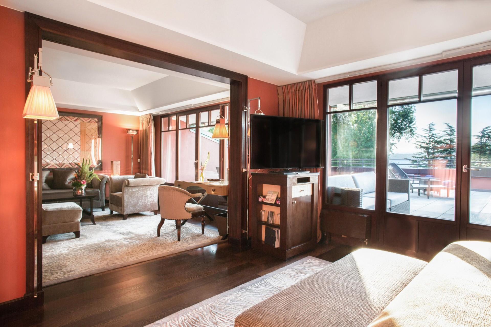 Suite Wohnraum des La Reserve Hotels