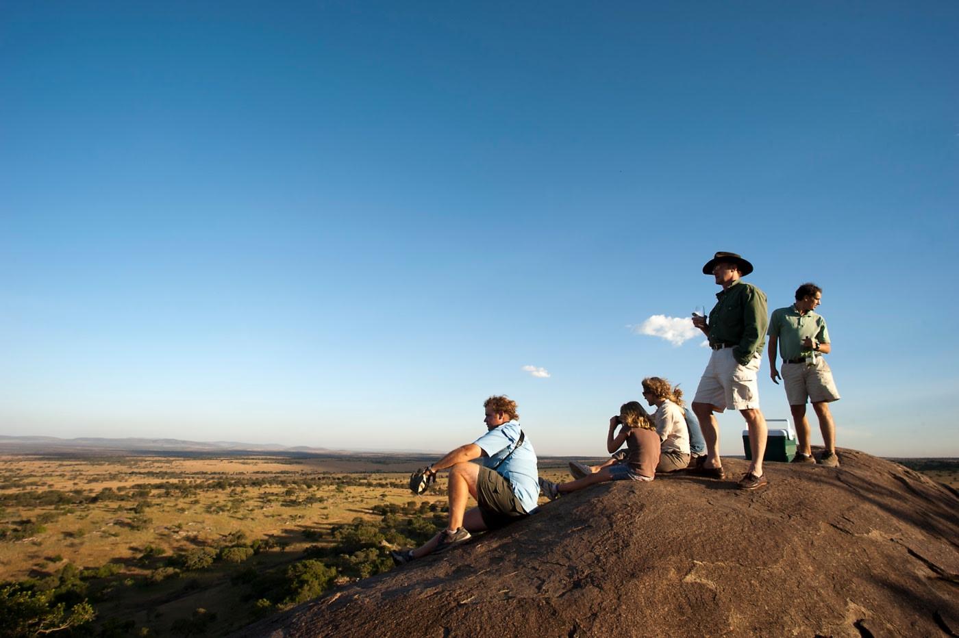 Buschwanderung in der Serengeti