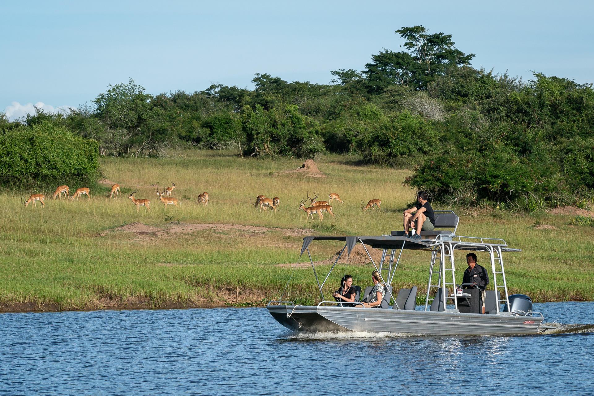 Bootfahrt im Akagera Nationalpark