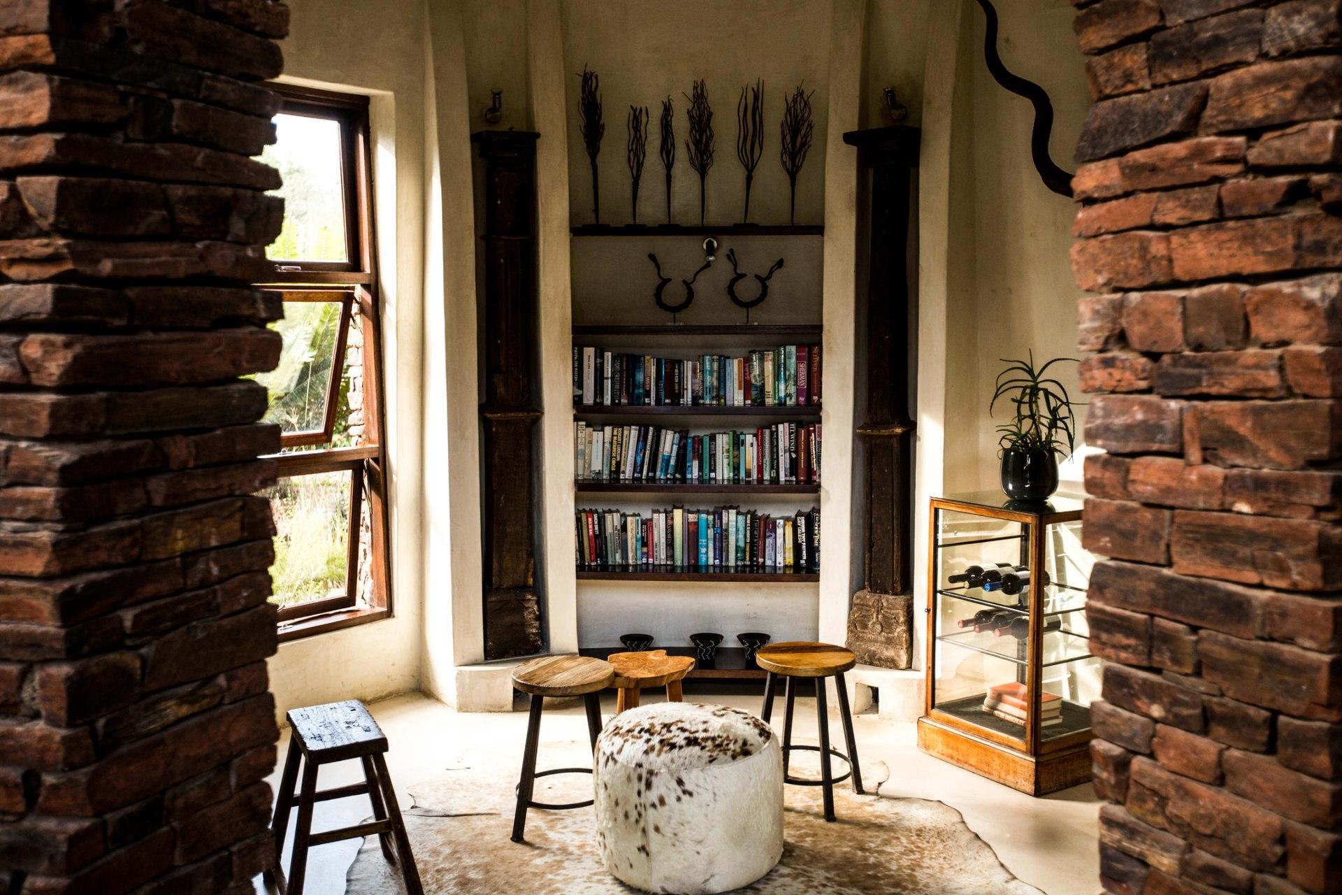 Bibliothek der Marataba Safari Lodge