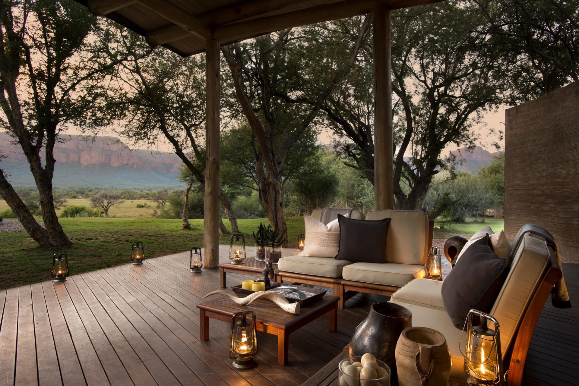 Ausblick von der Terrasse der Marataba Safari Lodge