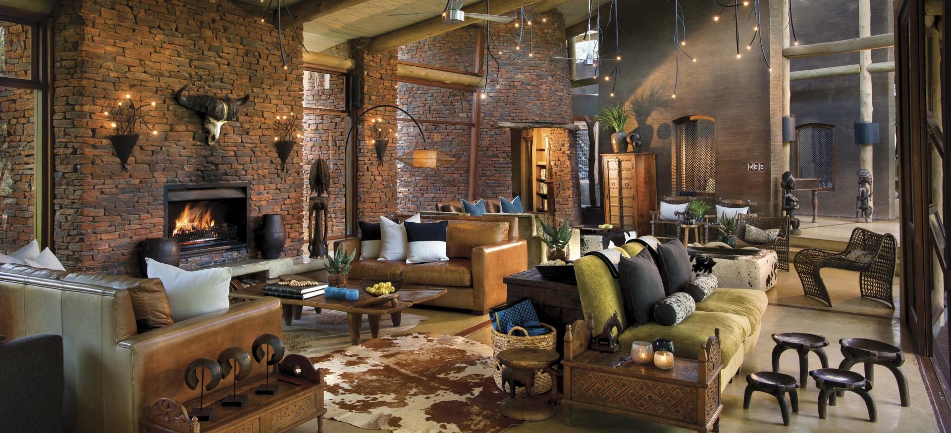 Loungebereich der Marataba Safari Lodge