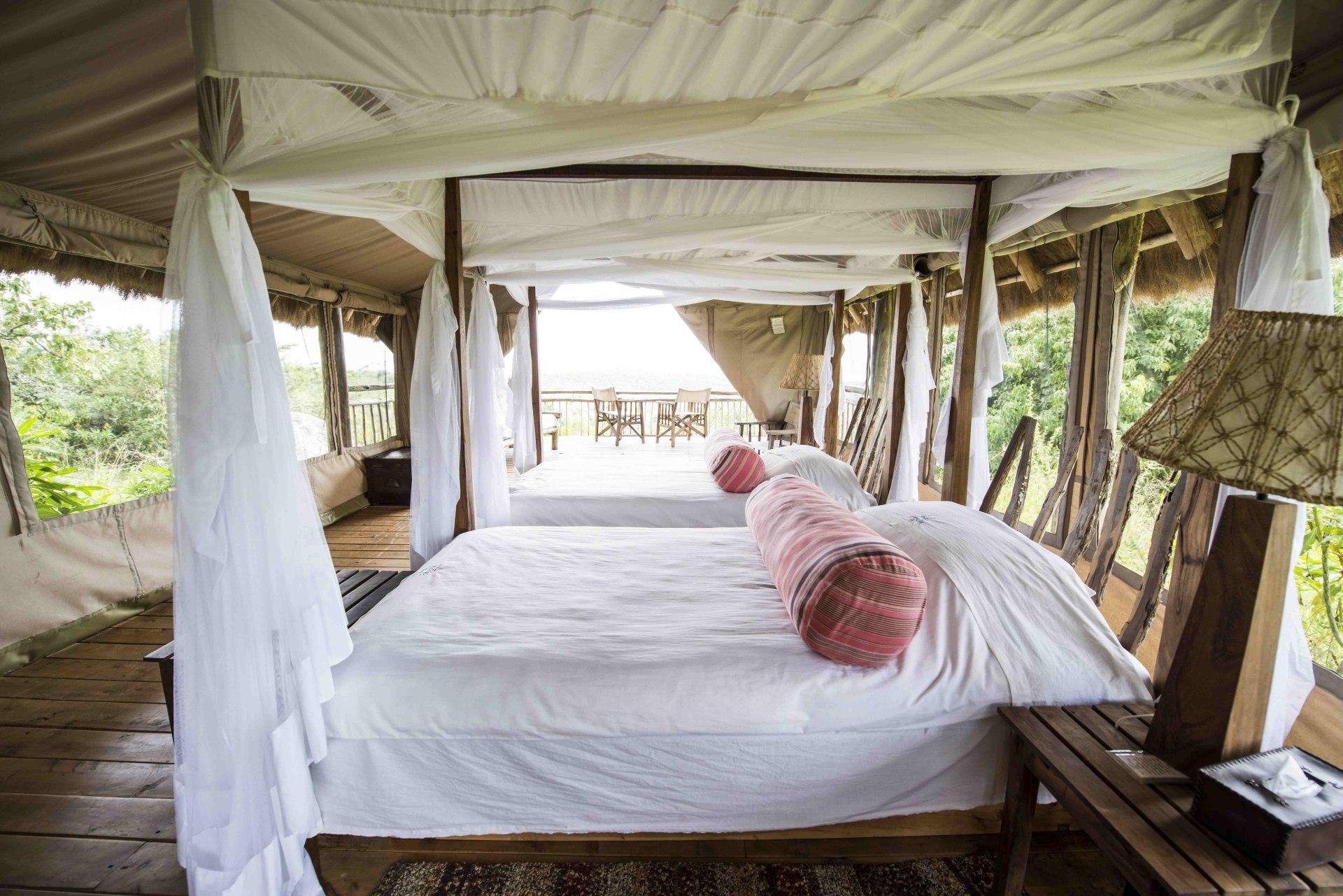 Zweibettzimmer der Mihingo Lodge