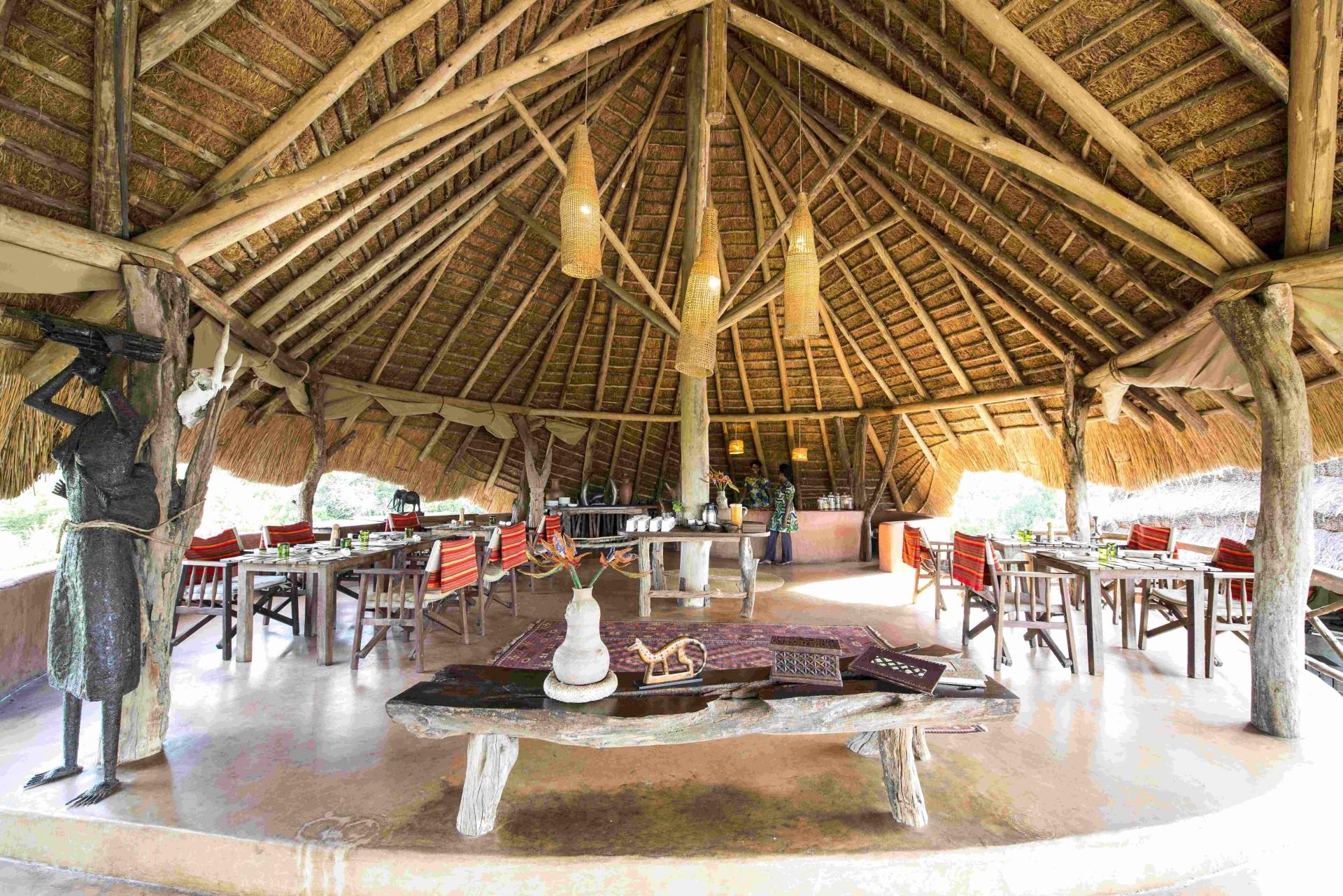 Essbereich der Mihingo Lodge