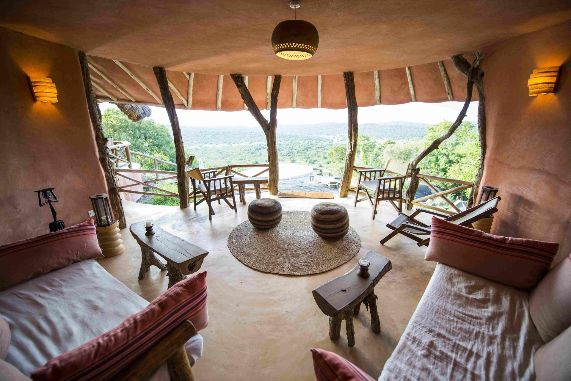Loungebereich der Mihingo Lodge