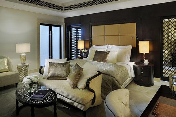 Schlafbereich einer Villa