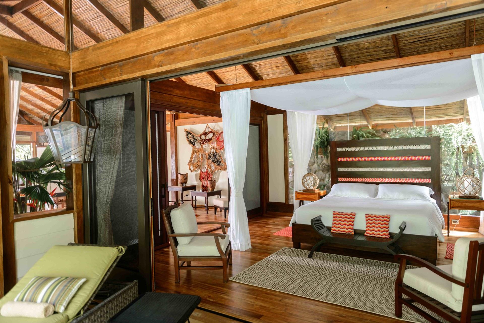 Schlaf und Wohnbereich der Jaguar Villa