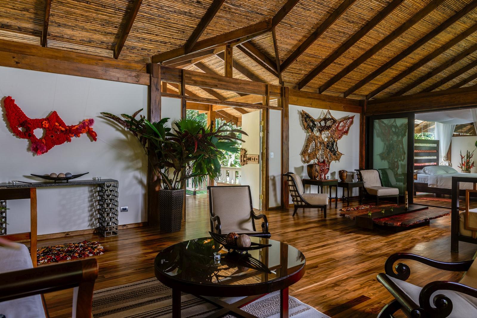 Wohnbereich der Jaguar Villa