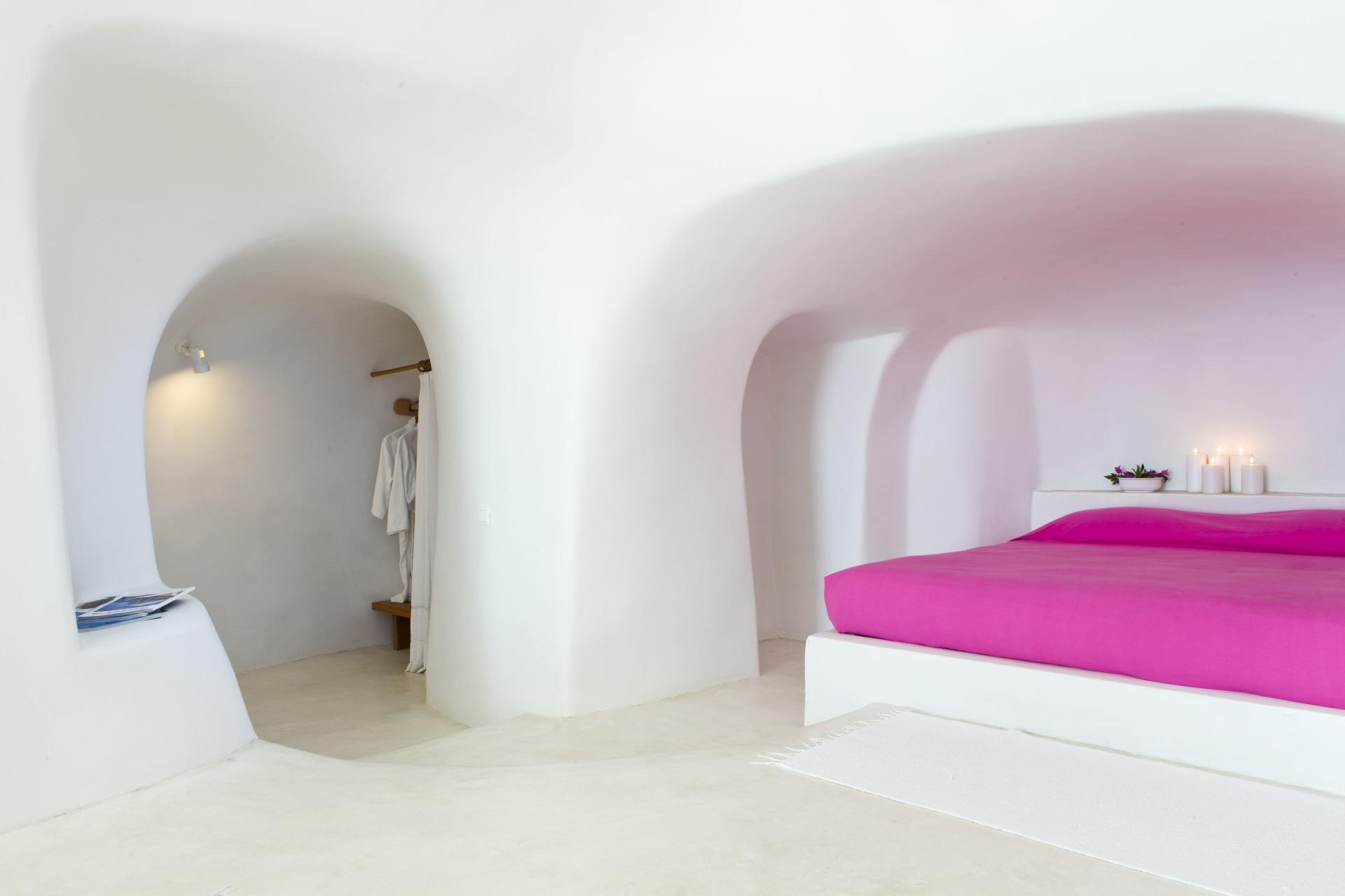 Innenansicht des Schlafbereiches der Superior Suite