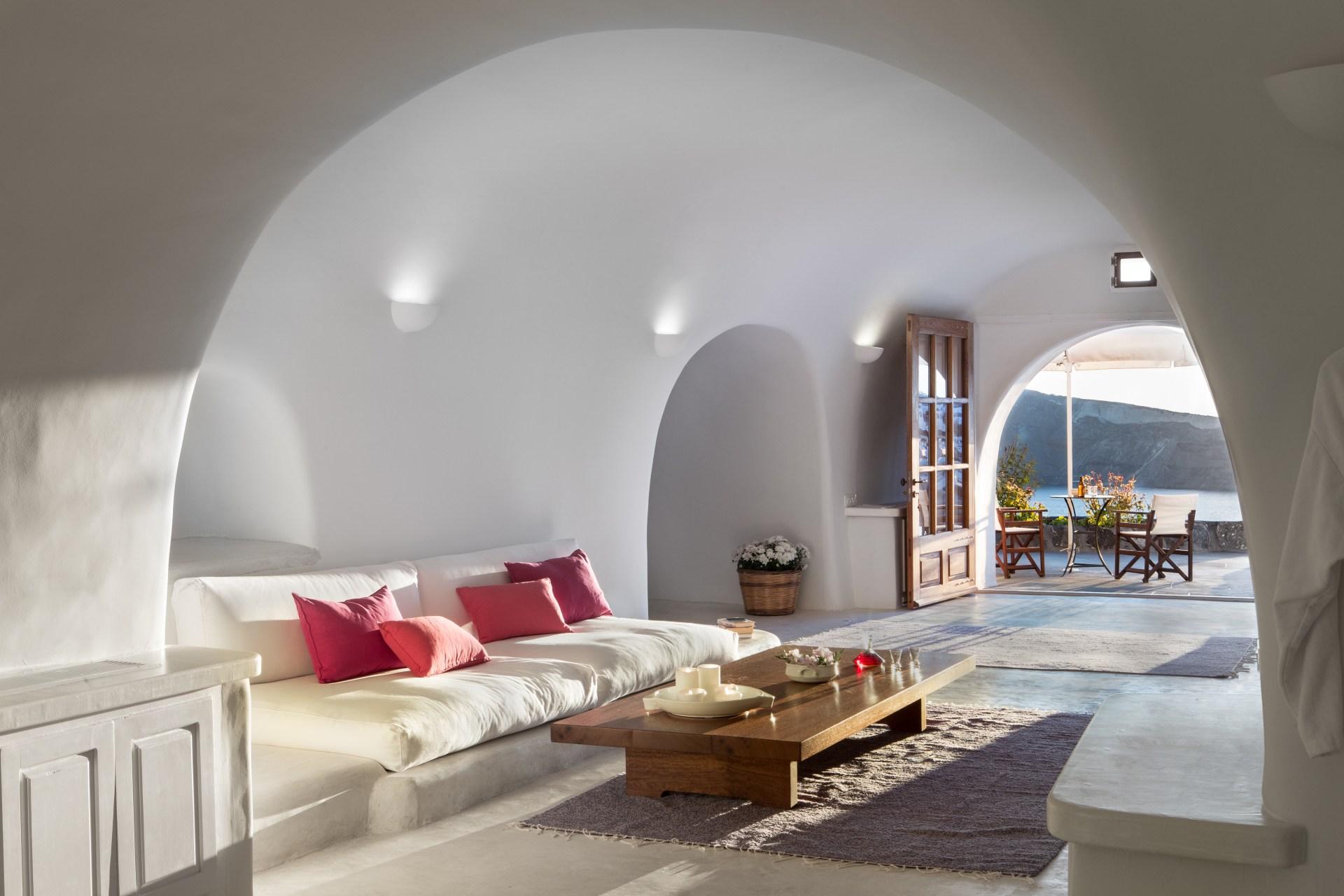 Innenansicht des Wohnbereiches der Luxury Suite