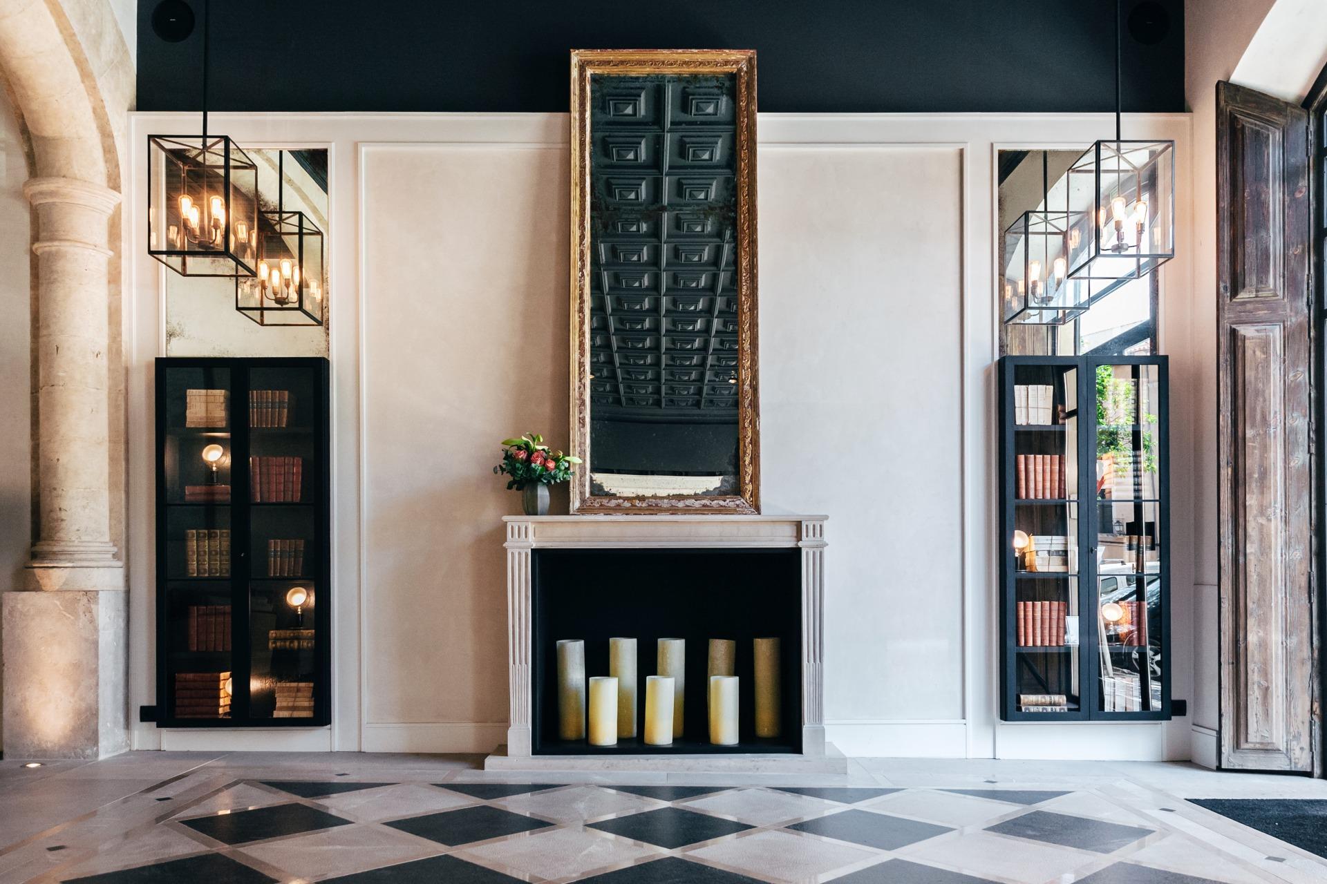 Detailansicht der Lobby des San Francesc Hotels