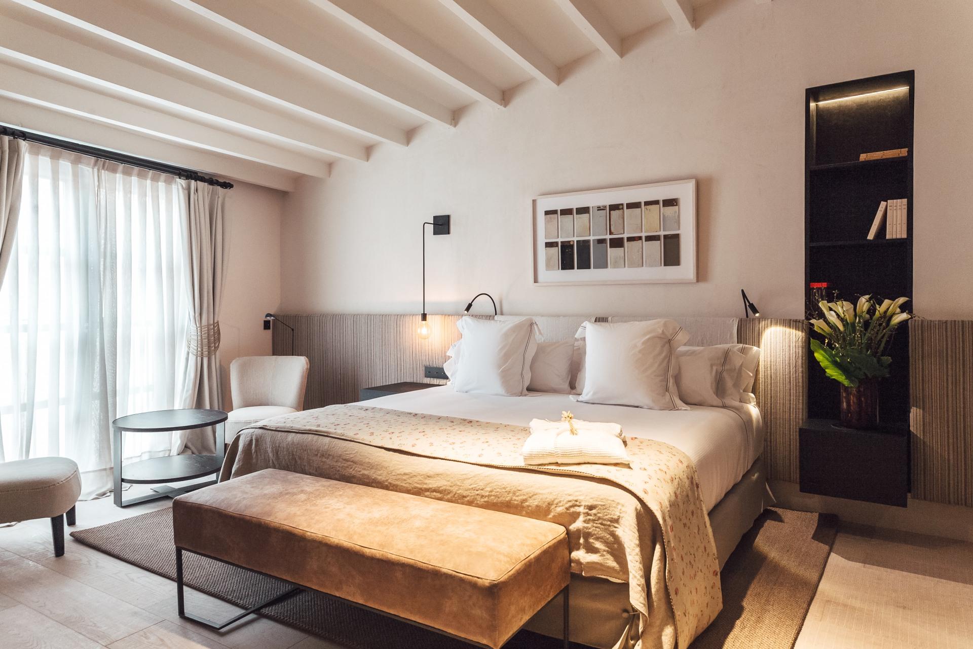 Schlafzimmer Innenansicht des San Francesc Hotel