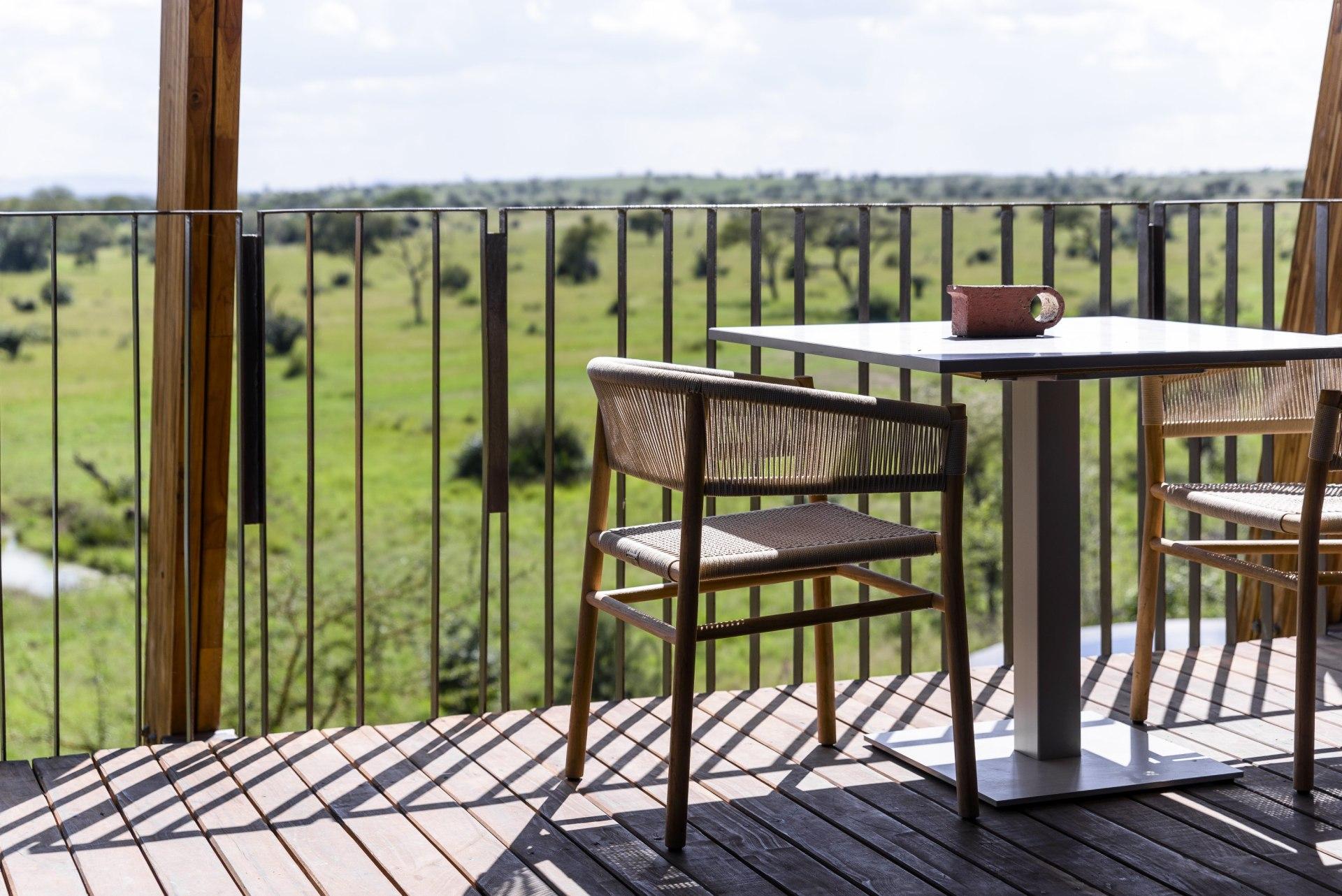 Ausblick von der Terrasse der Singita Faru Faru Lodge