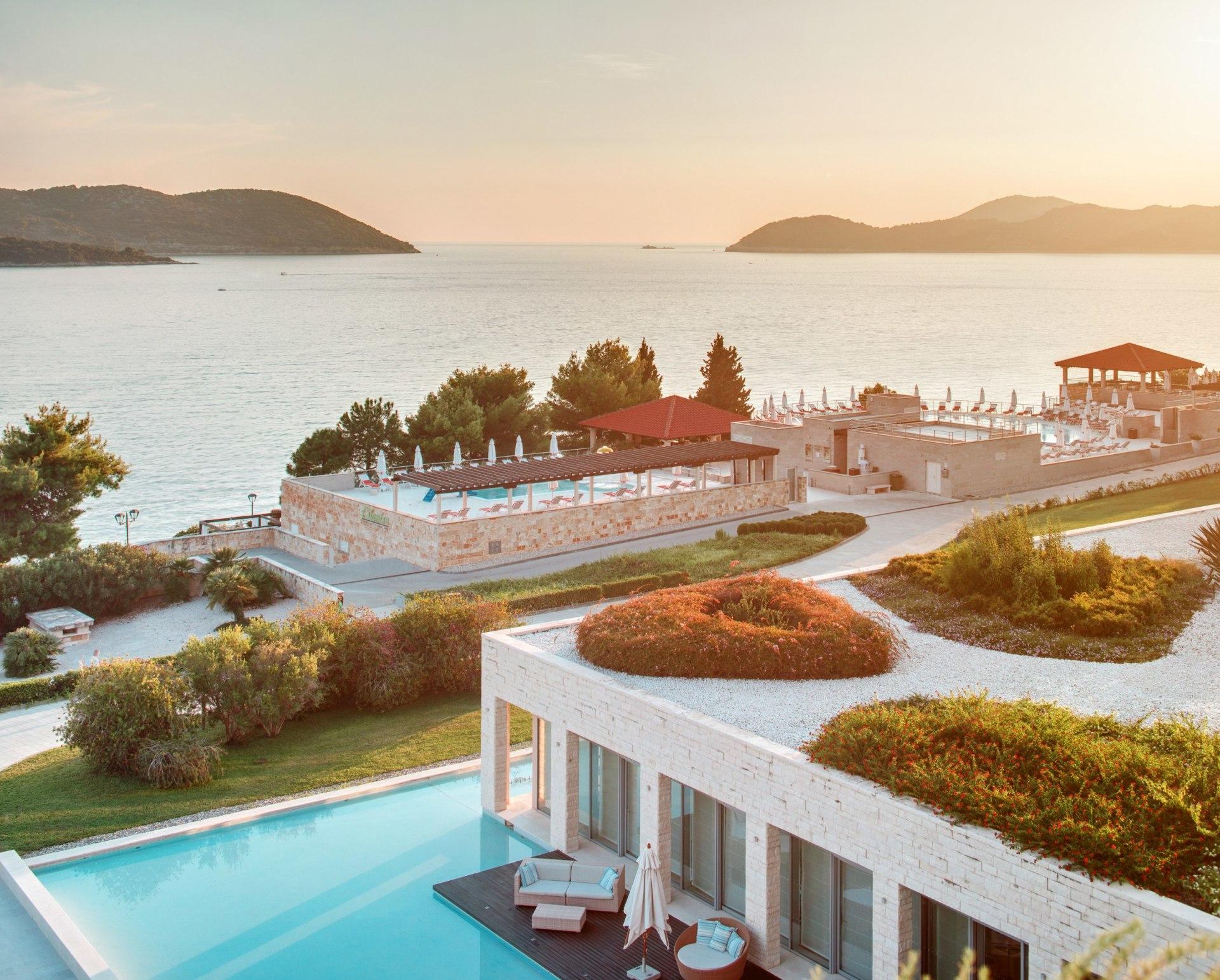 Außenfassade vom Sun Gardens Dubrovnik