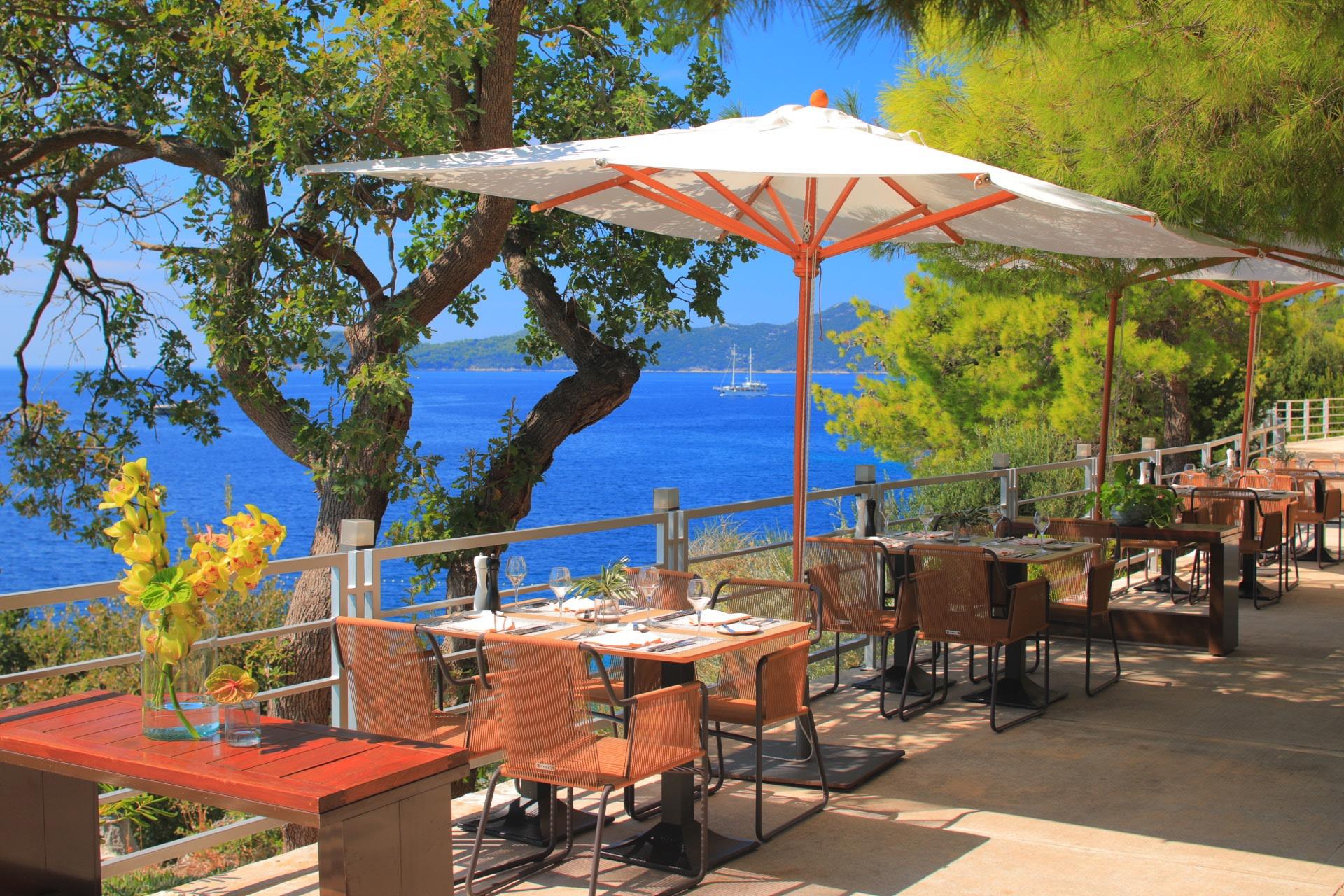 Außenansicht des Cilantro Restaurants des Sun Gardens Dubrovnik