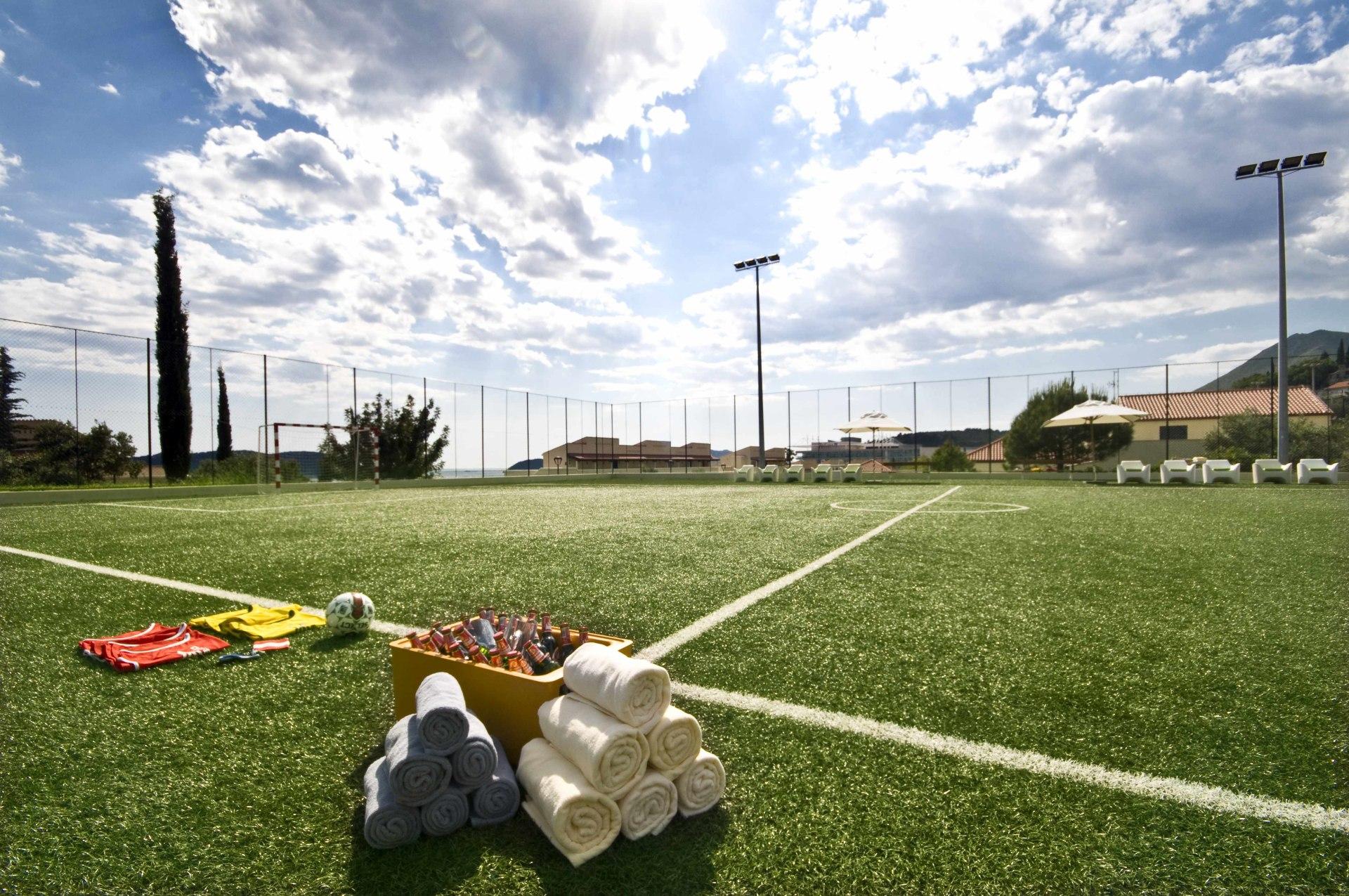 Fußballplatz des Sun Gardens Dubrovnik