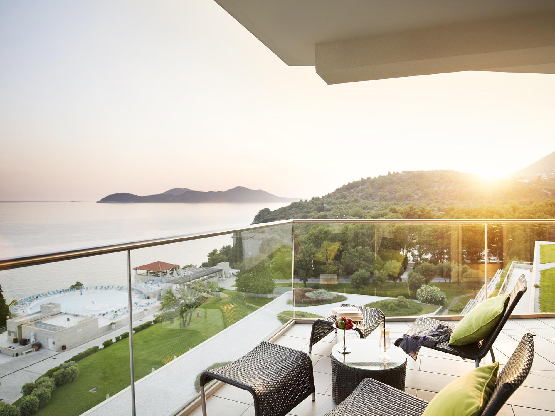 Außenansicht der Terrasse der Presidential Suite des Sun Gardens Dubrovnik