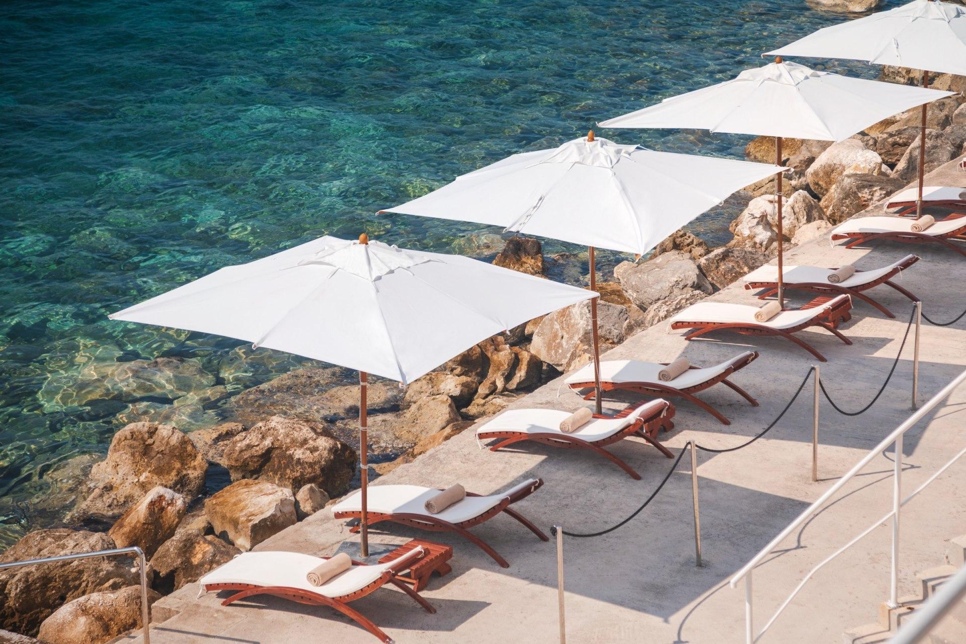Außenfassade vom Spabereich im Sun Gardens Dubrovnik