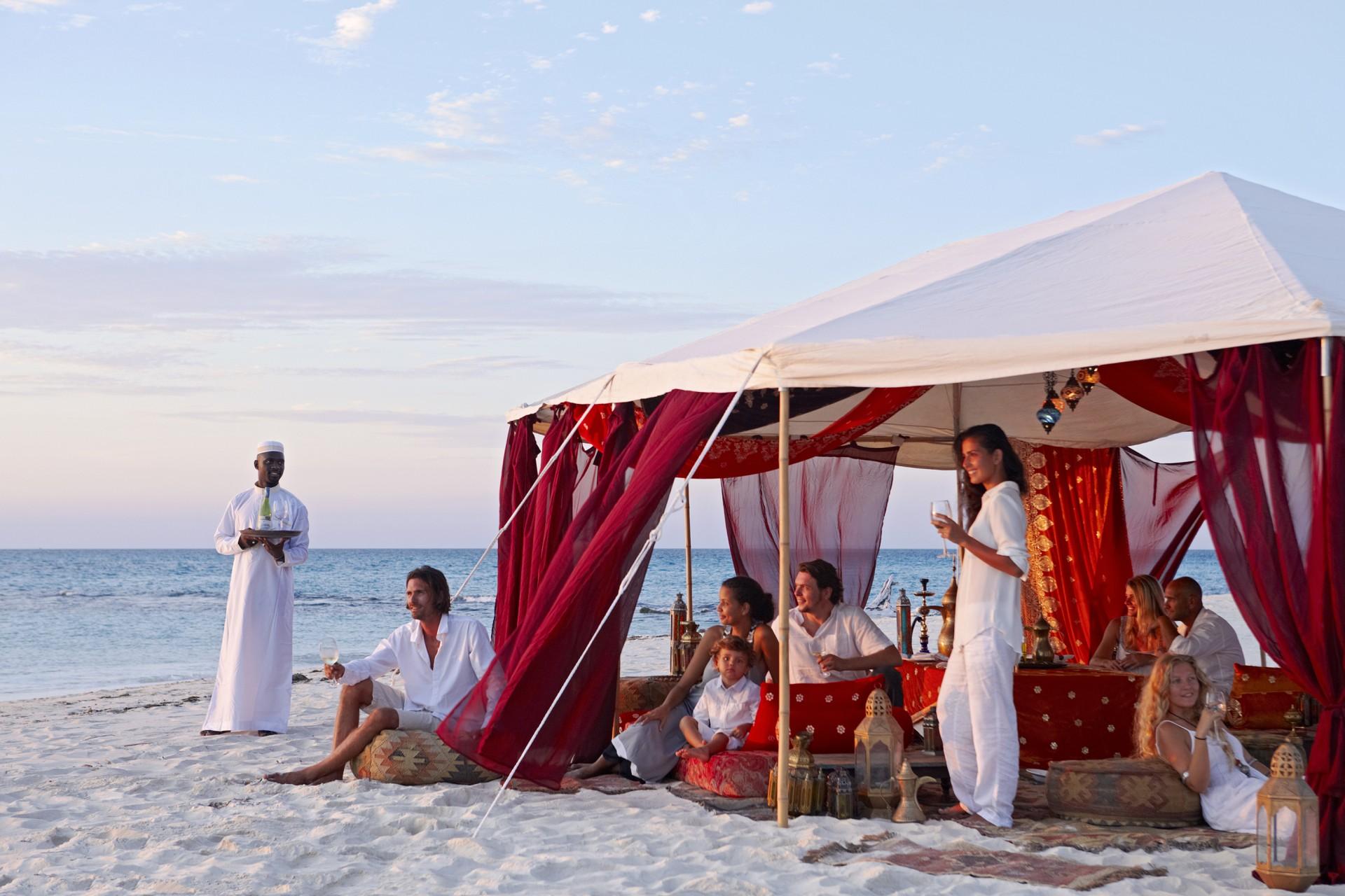Arabische Nacht am Strand von Thanda Island