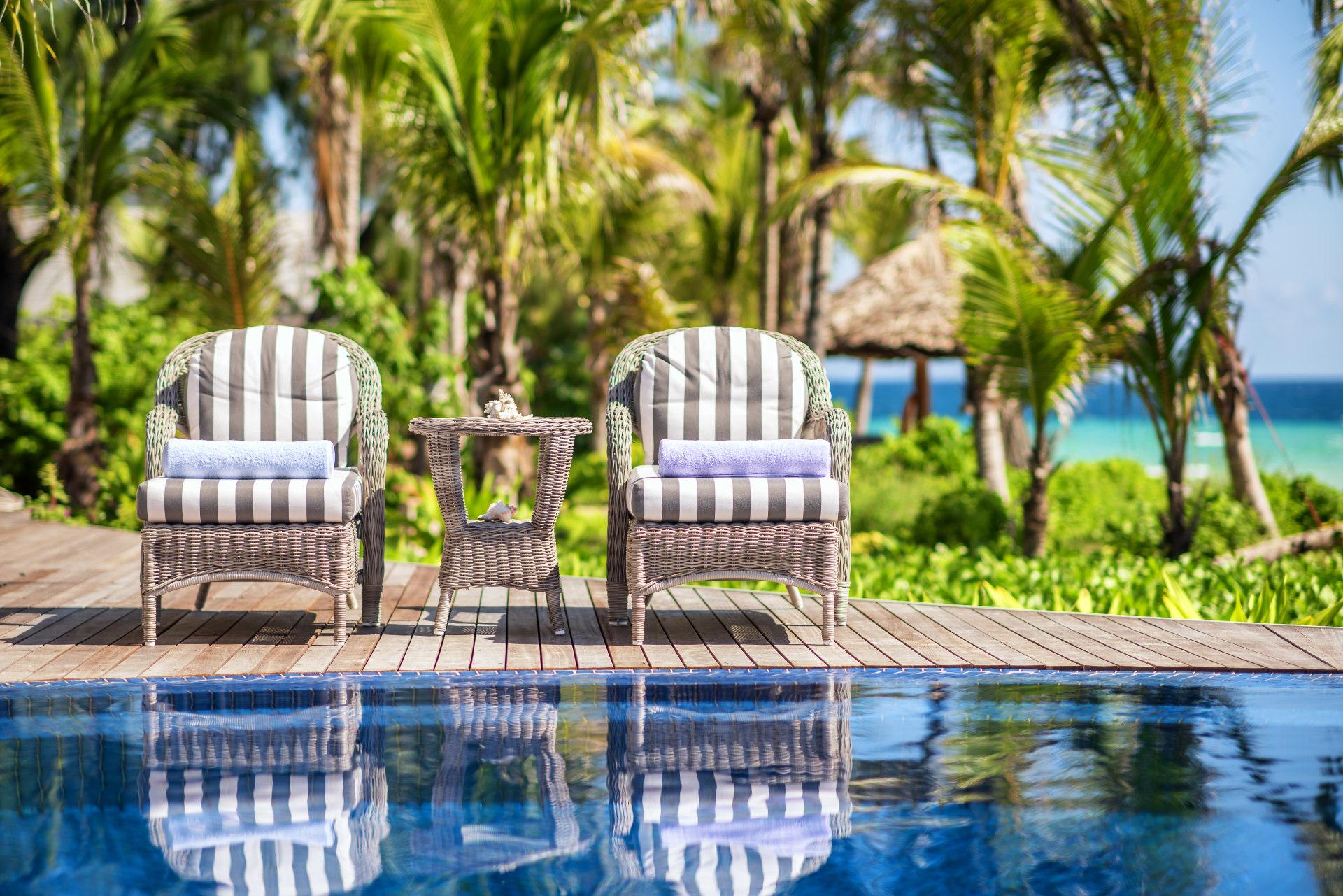 Poolbereich der Villa