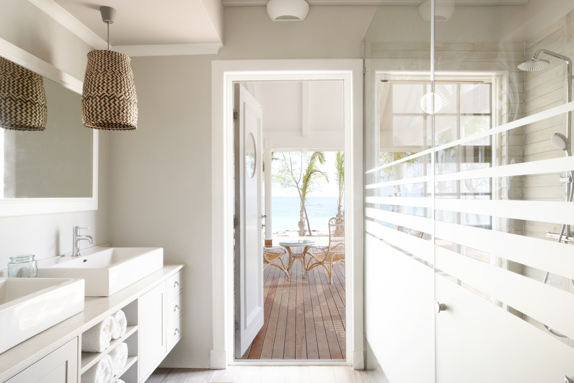En-Suite Badezimmer in der Villa