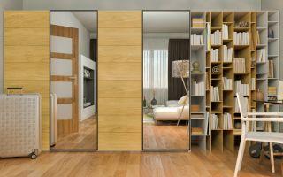 תיקון ארונות הזזה | ארון הזזה חזית עץ ומראה