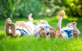ילדים על דשא טבעי דרבן גראס