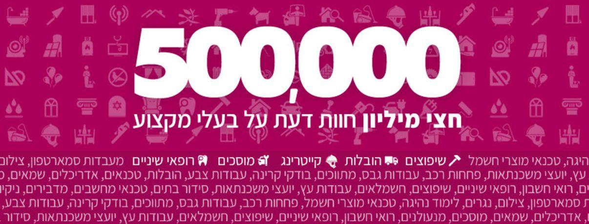 חצי מיליון חוות דעת באתר מידרג