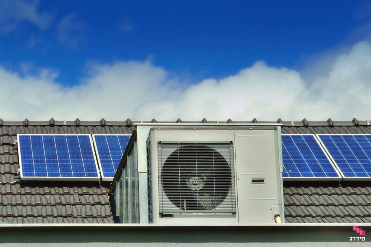 משאבת חום על גג