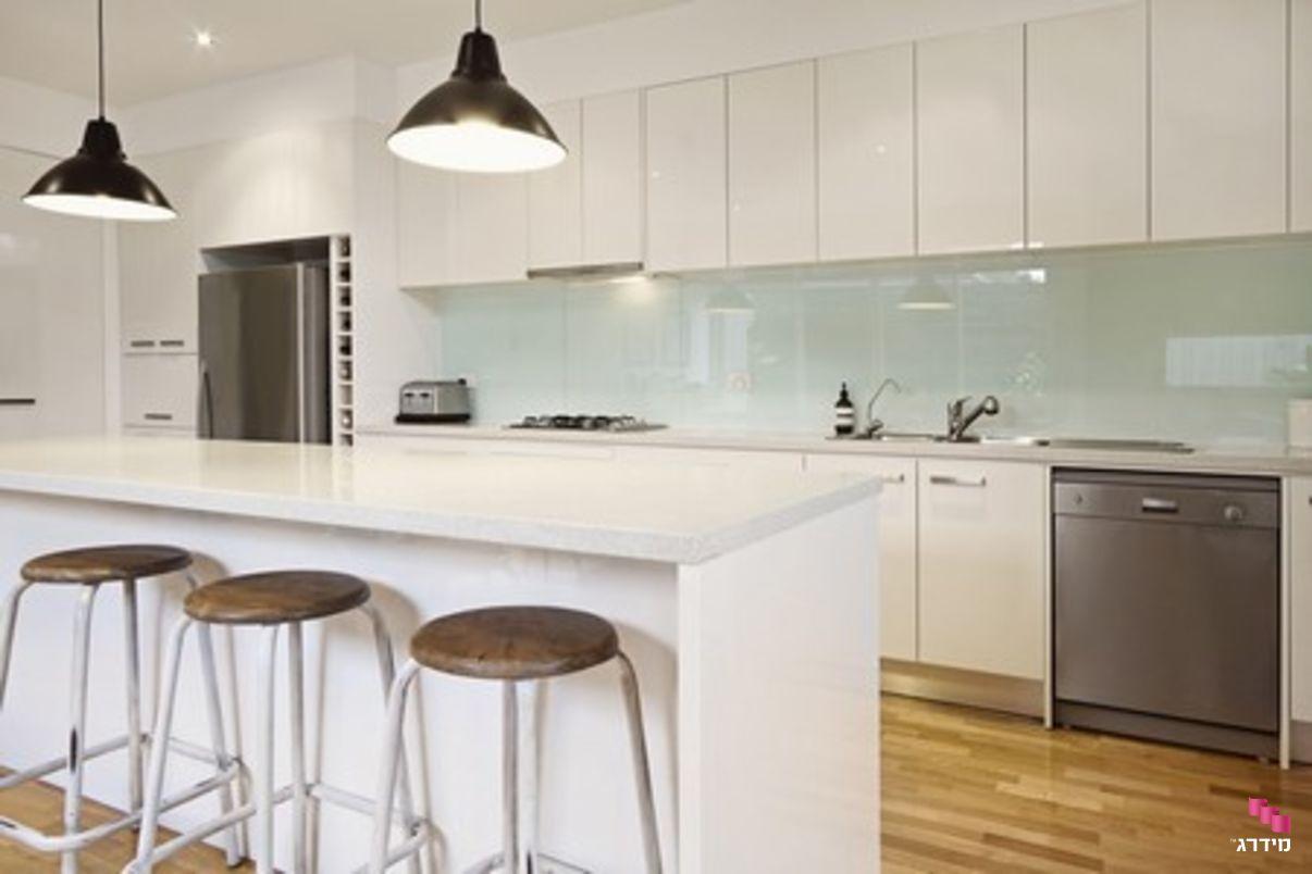 חיפוי זכוכית בהיר למטבח