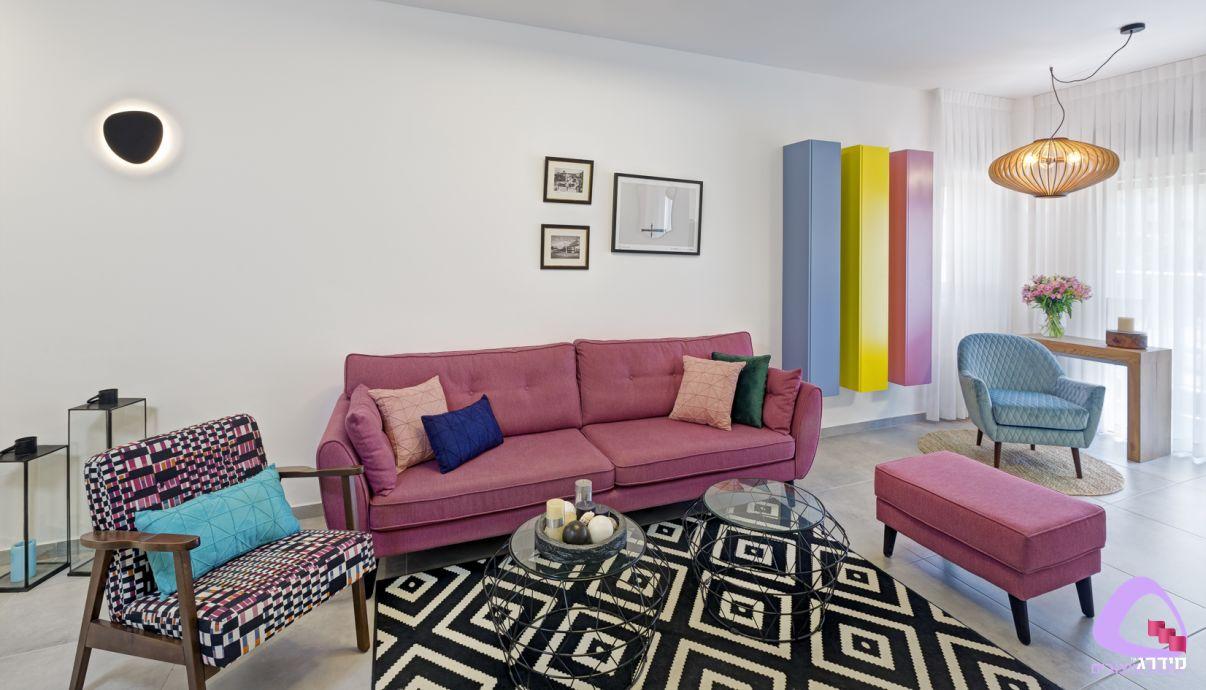 עיצוב סלון דירה קטנה